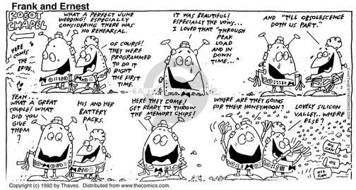Comic Strip Bob Thaves Tom Thaves  Frank and Ernest 1992-06-14 electronics