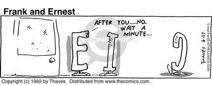 Comic Strip Bob Thaves Tom Thaves  Frank and Ernest 1992-06-27 letter