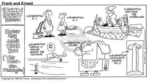 Cartoonist Bob Thaves Tom Thaves  Frank and Ernest 1992-07-12 landmark
