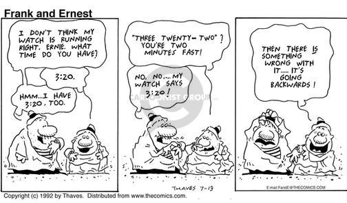 Comic Strip Bob Thaves Tom Thaves  Frank and Ernest 1992-07-19 something