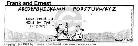 Comic Strip Bob Thaves Tom Thaves  Frank and Ernest 1992-07-22 letter