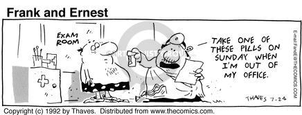 Cartoonist Bob Thaves Tom Thaves  Frank and Ernest 1992-07-24 consult