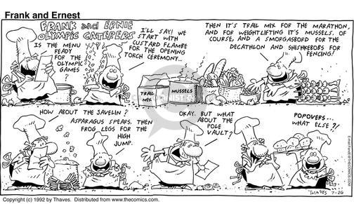 Comic Strip Bob Thaves Tom Thaves  Frank and Ernest 1992-07-26 trail