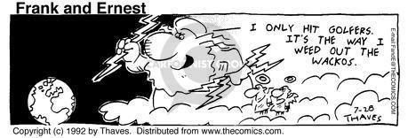 Cartoonist Bob Thaves Tom Thaves  Frank and Ernest 1992-07-28 sky