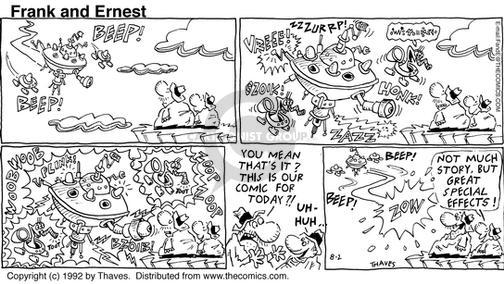 Comic Strip Bob Thaves Tom Thaves  Frank and Ernest 1992-08-02 sound