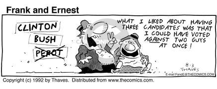 Comic Strip Bob Thaves Tom Thaves  Frank and Ernest 1992-08-03 guy