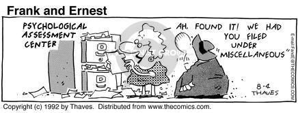 Cartoonist Bob Thaves Tom Thaves  Frank and Ernest 1992-08-04 medical center
