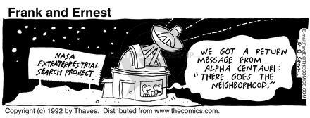 Comic Strip Bob Thaves Tom Thaves  Frank and Ernest 1992-08-15 community