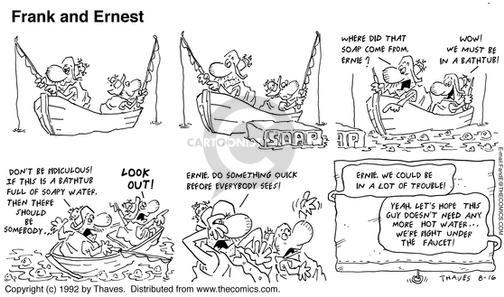 Comic Strip Bob Thaves Tom Thaves  Frank and Ernest 1992-08-16 yeah