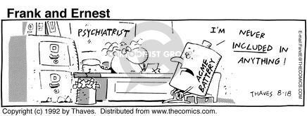 Cartoonist Bob Thaves Tom Thaves  Frank and Ernest 1992-08-18 medical supply