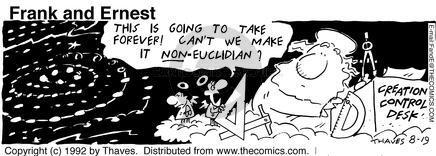 Cartoonist Bob Thaves Tom Thaves  Frank and Ernest 1992-08-19 sky