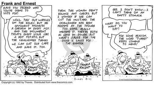 Comic Strip Bob Thaves Tom Thaves  Frank and Ernest 1992-08-23 guy