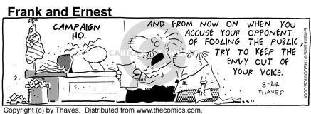Cartoonist Bob Thaves Tom Thaves  Frank and Ernest 1992-08-24 jealousy
