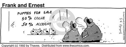 Comic Strip Bob Thaves Tom Thaves  Frank and Ernest 1992-09-05 breed