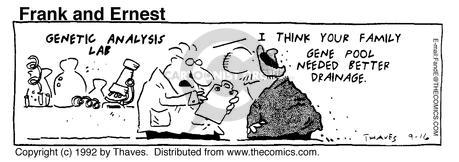 Comic Strip Bob Thaves Tom Thaves  Frank and Ernest 1992-09-16 better