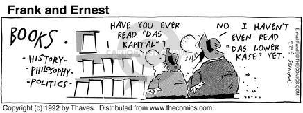 Comic Strip Bob Thaves Tom Thaves  Frank and Ernest 1992-09-22 finance
