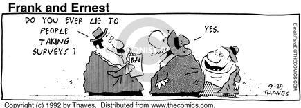 Comic Strip Bob Thaves Tom Thaves  Frank and Ernest 1992-09-29 candidate