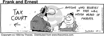 Comic Strip Bob Thaves Tom Thaves  Frank and Ernest 1992-10-01 hear