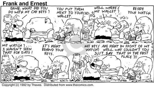 Comic Strip Bob Thaves Tom Thaves  Frank and Ernest 1992-10-04 first day