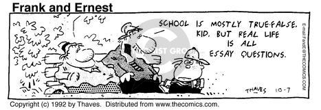 Comic Strip Bob Thaves Tom Thaves  Frank and Ernest 1992-10-07 true false