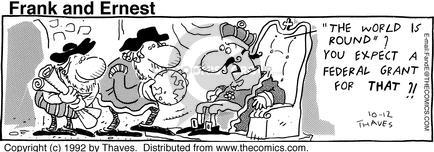 Comic Strip Bob Thaves Tom Thaves  Frank and Ernest 1992-10-12 throne