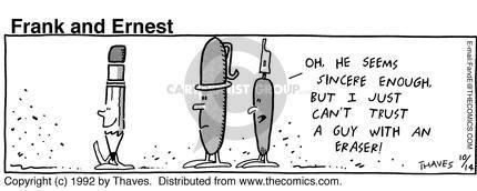 Comic Strip Bob Thaves Tom Thaves  Frank and Ernest 1992-10-14 utensil