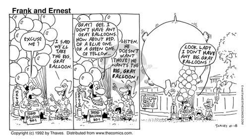 Comic Strip Bob Thaves Tom Thaves  Frank and Ernest 1992-10-18 fill