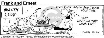 Comic Strip Bob Thaves Tom Thaves  Frank and Ernest 1992-10-26 weight