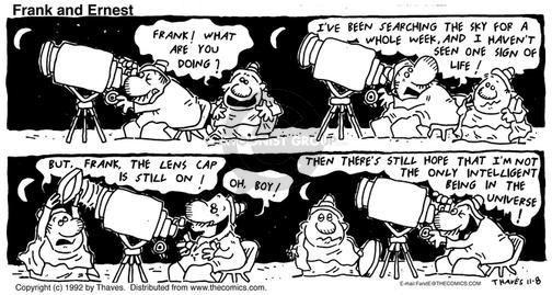 Comic Strip Bob Thaves Tom Thaves  Frank and Ernest 1992-11-08 cap