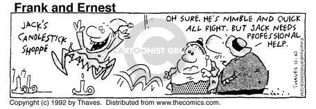 Comic Strip Bob Thaves Tom Thaves  Frank and Ernest 1992-11-10 Jack