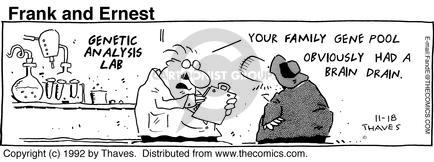 Comic Strip Bob Thaves Tom Thaves  Frank and Ernest 1992-11-18 play