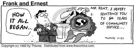 Comic Strip Bob Thaves Tom Thaves  Frank and Ernest 1992-11-21 sentence
