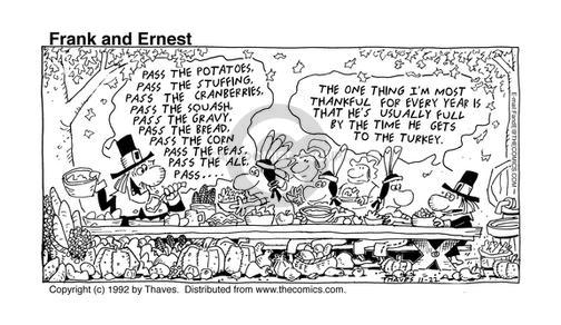 Comic Strip Bob Thaves Tom Thaves  Frank and Ernest 1992-11-22 potato
