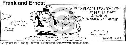 Cartoonist Bob Thaves Tom Thaves  Frank and Ernest 1992-11-28 sky