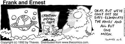 Cartoonist Bob Thaves Tom Thaves  Frank and Ernest 1992-12-03 sky