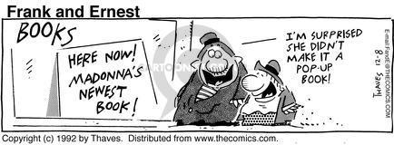 Cartoonist Bob Thaves Tom Thaves  Frank and Ernest 1992-12-08 pop-up book