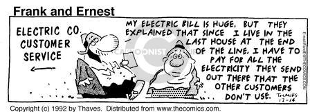 Comic Strip Bob Thaves Tom Thaves  Frank and Ernest 1992-12-14 personal finance