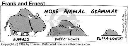 Comic Strip Bob Thaves Tom Thaves  Frank and Ernest 1992-12-26 grammar