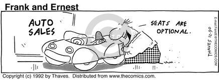 Comic Strip Bob Thaves Tom Thaves  Frank and Ernest 1992-12-30 auto part