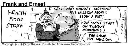 Comic Strip Bob Thaves Tom Thaves  Frank and Ernest 1993-01-02 Tuesday