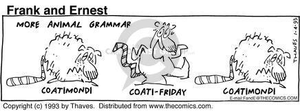 Comic Strip Bob Thaves Tom Thaves  Frank and Ernest 1993-01-04 grammar