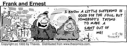 Comic Strip Bob Thaves Tom Thaves  Frank and Ernest 1993-01-05 grace