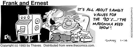 Comic Strip Bob Thaves Tom Thaves  Frank and Ernest 1993-01-14 change