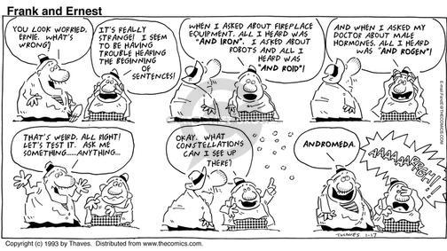 Comic Strip Bob Thaves Tom Thaves  Frank and Ernest 1993-01-17 impairment