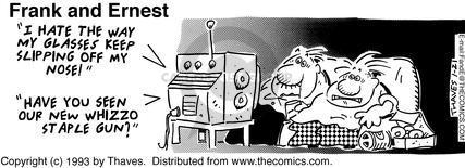 Comic Strip Bob Thaves Tom Thaves  Frank and Ernest 1993-01-21 utensil