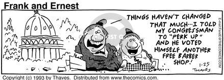 Comic Strip Bob Thaves Tom Thaves  Frank and Ernest 1993-01-25 change