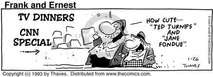 Comic Strip Bob Thaves Tom Thaves  Frank and Ernest 1993-01-26 cute