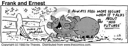 Comic Strip Bob Thaves Tom Thaves  Frank and Ernest 1993-01-28 stock market