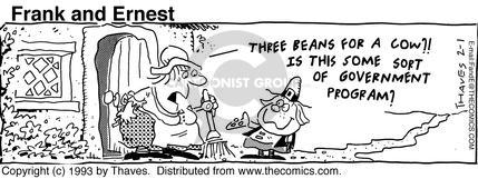 Comic Strip Bob Thaves Tom Thaves  Frank and Ernest 1993-02-01 stock