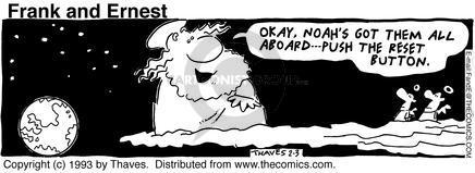 Cartoonist Bob Thaves Tom Thaves  Frank and Ernest 1993-02-03 sky